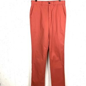Lands End Traditional Fit Chino Pants Coral Sz 32